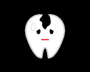 C1虫歯の進行